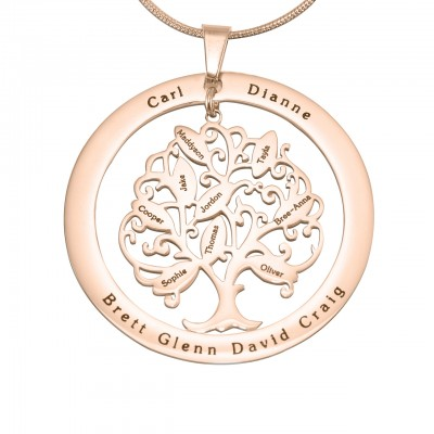 Personalised Tree of My Life Washer 9 - 18CT Rose Gold