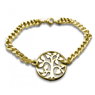 Personalised Tree Bracelet - 18CT Gold