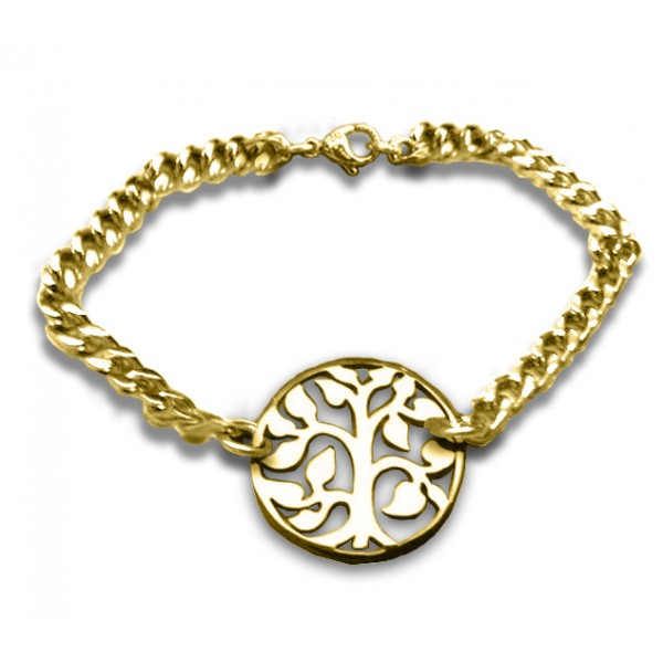 Personalised Tree Bracelet - 18CT Gold