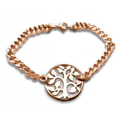 Personalised Tree Bracelet/Anklet - 18CT Rose Gold