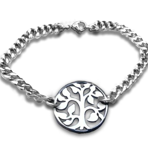 Solid Gold Tree Bracelet -