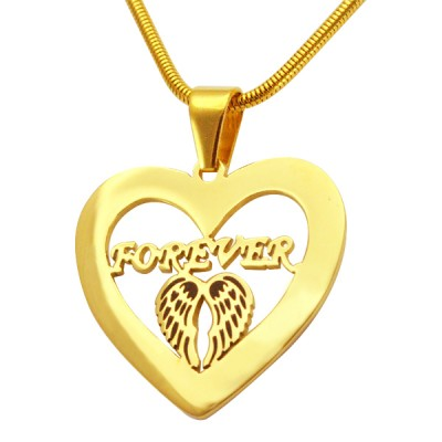 Personalised Angel in My Heart Necklace - 18CT Gold