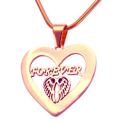 Personalised Angel in My Heart Necklace - 18CT Rose Gold