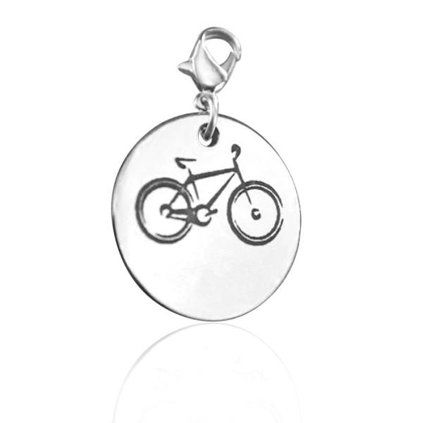 Solid White Gold Bike Charm