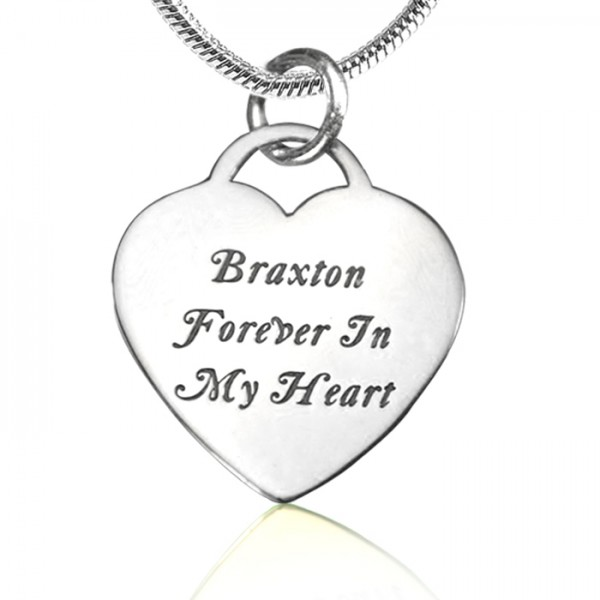 Solid Gold Forever in My Heart Necklace -