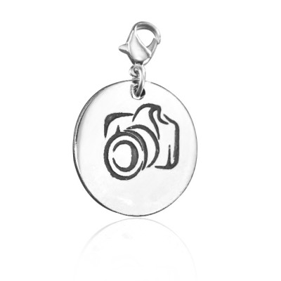 Solid White Gold Camera Charm