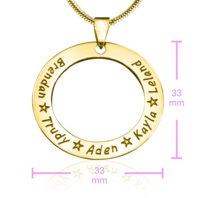 Personalised Circle of Trust Necklace - 18CT Gold