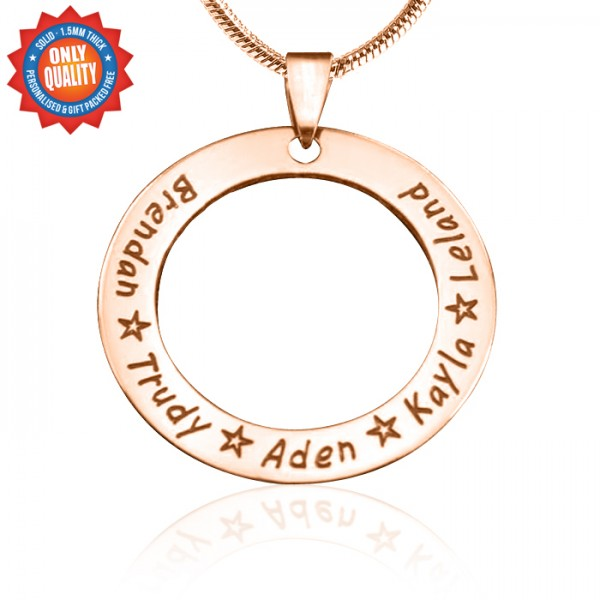 Personalised Circle of Trust Necklace - 18CT Rose Gold
