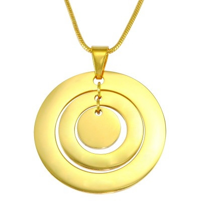 Personalised Circles of Love Necklace - 18CT Gold