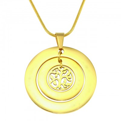 Personalised Circles of Love Necklace Tree - 18CT Gold