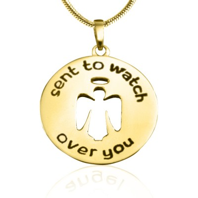 Personalised Guardian Angel Necklace 2 - 18CT Gold