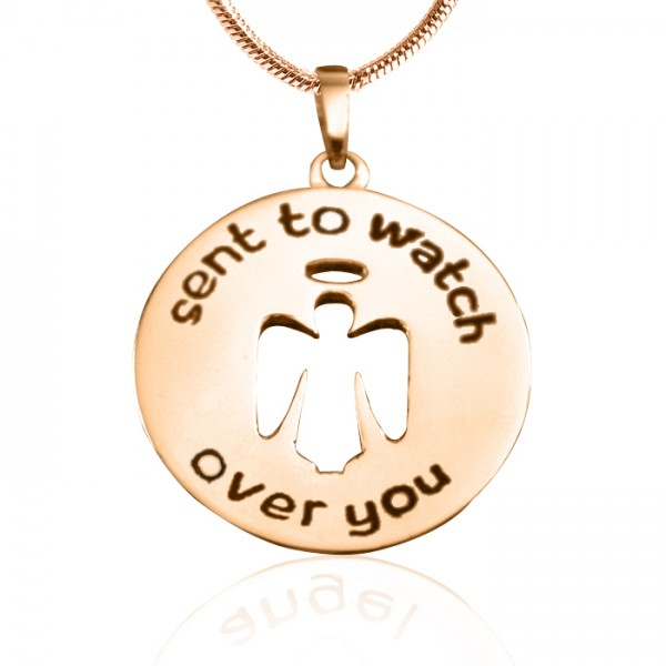 Personalised Guardian Angel Necklace 2 - 18CT Rose Gold