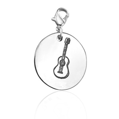 Solid Gold Guitar Charm