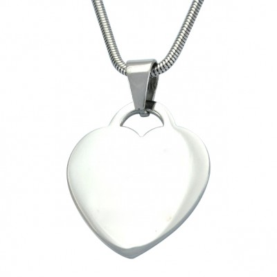 Solid Gold Heart of Necklace
