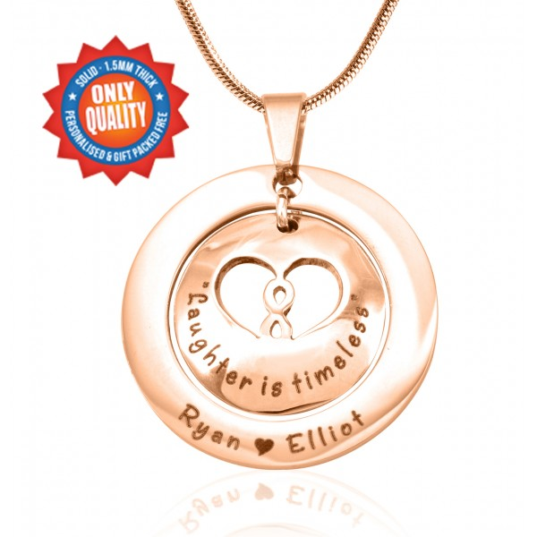 Personalised Infinity Dome Necklace - 18CT Rose Gold