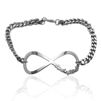 Solid Gold Infinity Name Bracelet/Anklet -