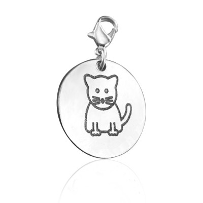 Solid Gold Kitty Charm