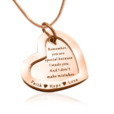 Personalised Love Forever Necklace - 18CT Rose Gold