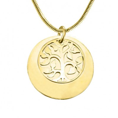 Personalised My Family Tree Single Disc - 18CT Gold