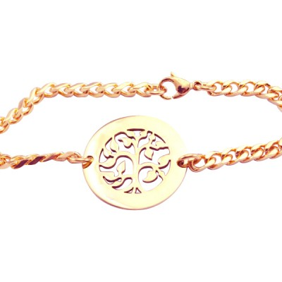 Personalised My Tree Bracelet - 18CT Rose Gold