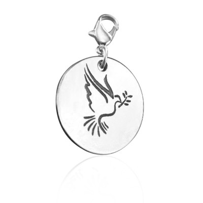 Solid Gold Peaceful Dove Charm