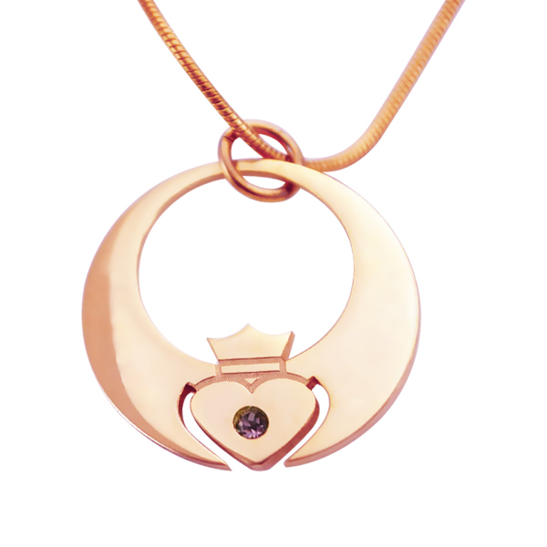 Personalised Queen of My Heart Necklace - 18CT Rose Gold