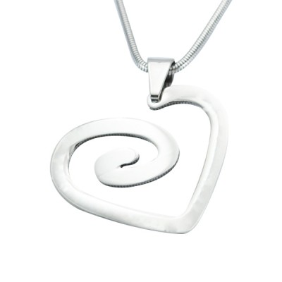 Solid Gold Swirls of My Heart Necklace -