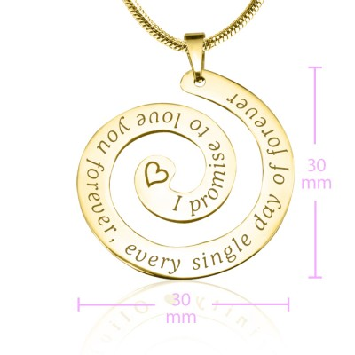 Personalised Promise Swirl - 18CT Gold*Limited Edition