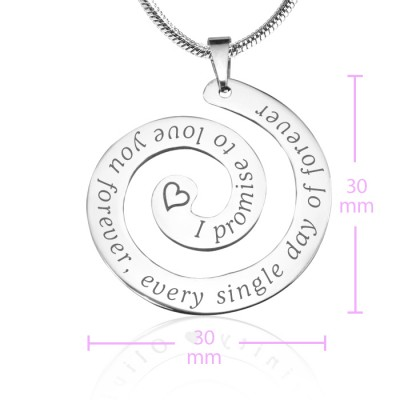 Personalised Promise Swirl - 18CT Gold *Limited Edition