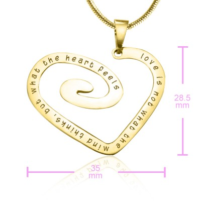 Personalised Love Heart Necklace - 18CT Gold *Limited Edition