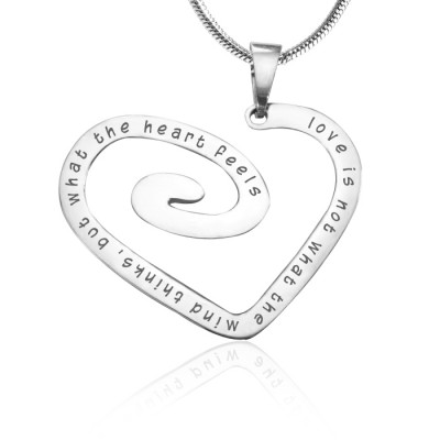 Personalised Love Heart Necklace - 18CT White Gold *Limited Edition