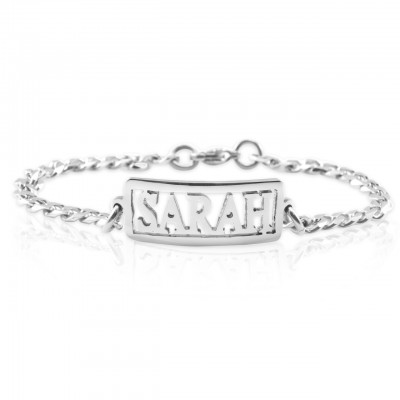 Solid Gold Name Necklace/Bracelet/Anklet - DIY Name Jewellery With Any Elements