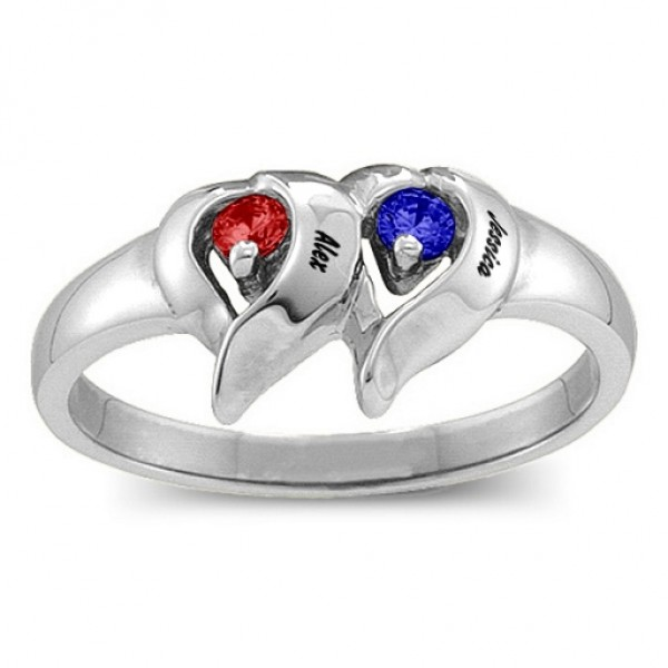 Cerca Solid White Gold Ring with 1-4 Stones
