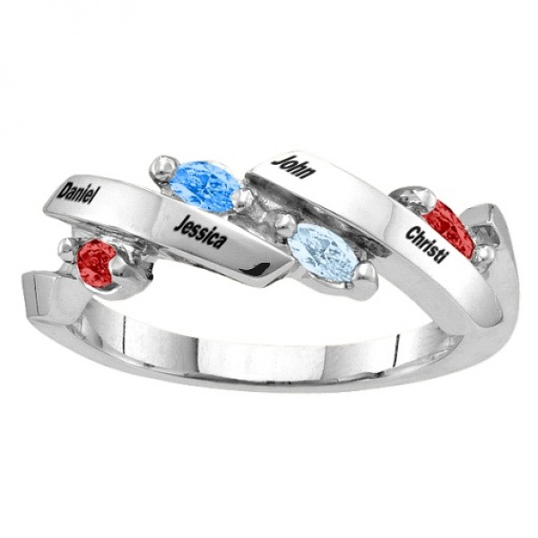 Nectar Marquise Solid White Gold Ring