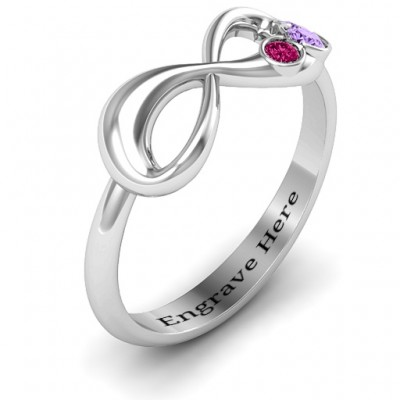 Now and Forever Infinity Solid White Gold Ring