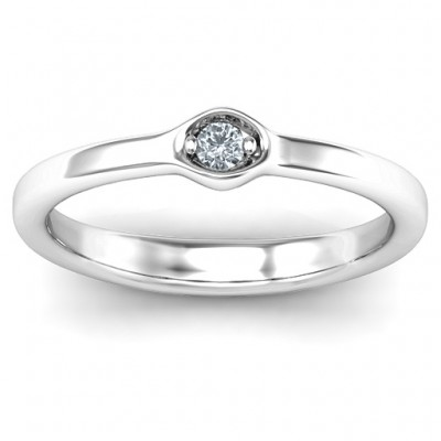 1-4 Infinite Wave Multi Stone Solid White Gold Ring