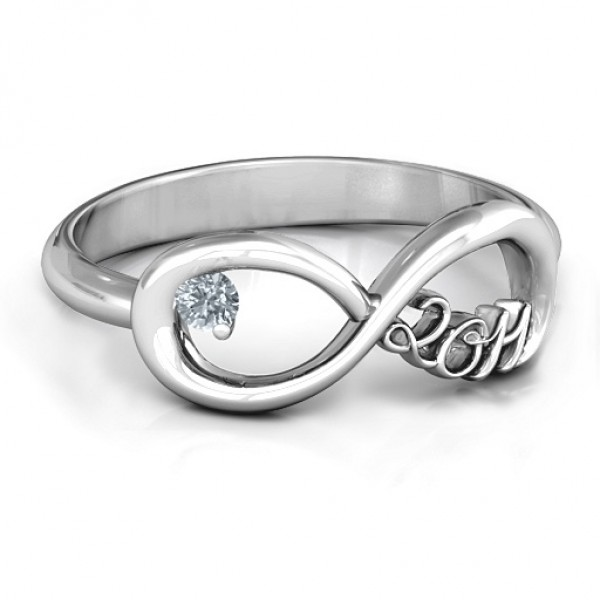 2011 Infinity Solid White Gold Ring
