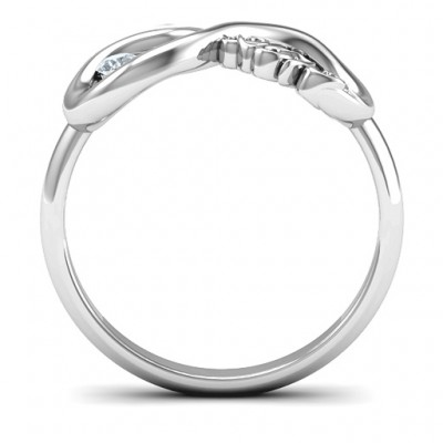 2013 Infinity Solid White Gold Ring