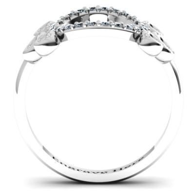 7 Circles Karma Solid White Gold Ring