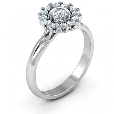 Adore and Cherish Solid White Gold Ring
