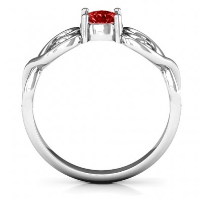 Always In My Heart Promise Solid White Gold Ring
