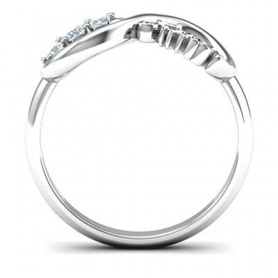 Amor Infinity Solid White Gold Ring