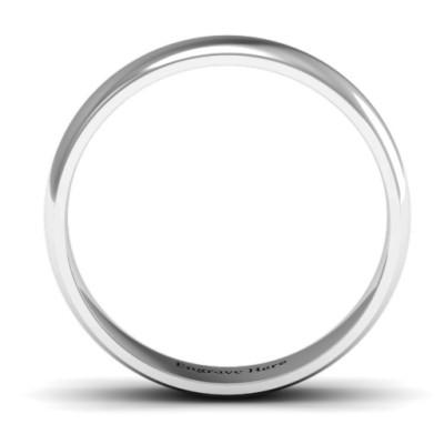 Apollo Men's Solid White Gold Ring