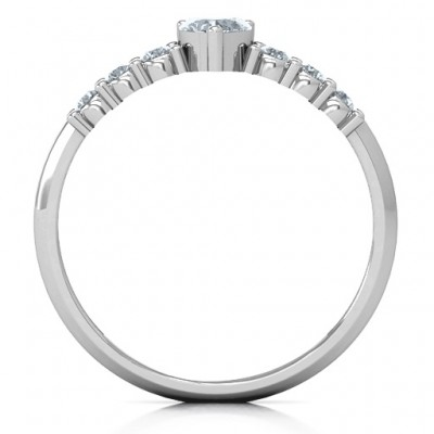 Beaming with Love Solid White Gold Ring