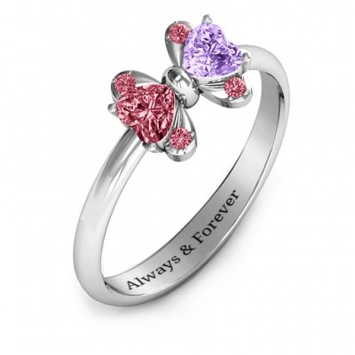 Beauty And The Bow Solid White Gold Ring