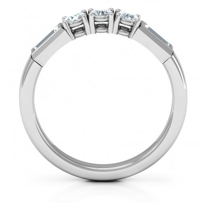 Charmed by Love Solid White Gold Ring