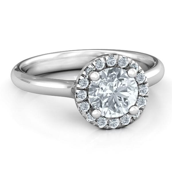 Cherish Her Solid White Gold Ring