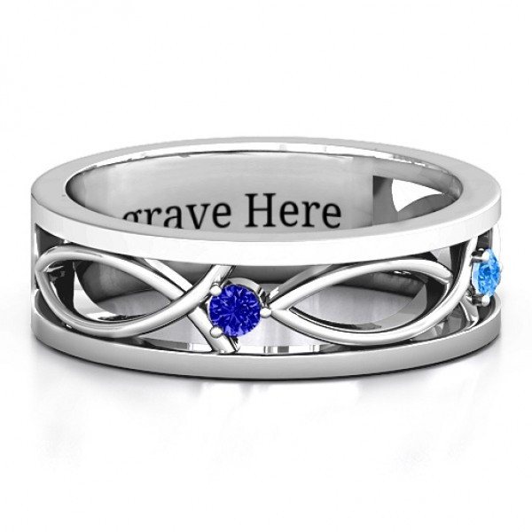 Classic Fish Men's Solid White Gold Ring