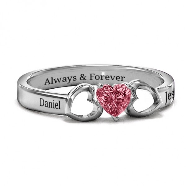 Darling Heart Wraparound Solid White Gold Ring