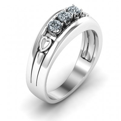 Devotion Solid White Gold Ring